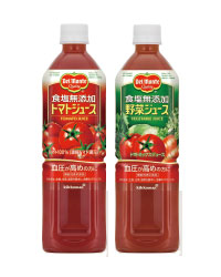 デルモンテ 食塩無添加トマトジュース・食塩無添加野菜ジュース