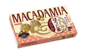 【明治】ほうじ茶の香ばしい香り「マカダミアふわりほうじ茶」画像