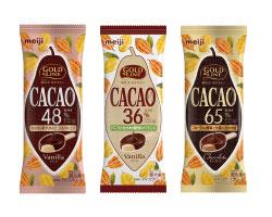 【明治】チョコレートの本格感が楽しめる「明治 GOLD LINE CACAO48% バニラ」画像