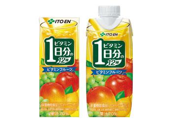 【伊藤園】おいしさと機能性を兼ね備えた「ビタミンフルーツ 1日分のビタミン12種」画像