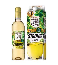 【サントリー】飲みごたえのある白「酸化防止剤無添加のおいしいワイン。ストロング白」画像