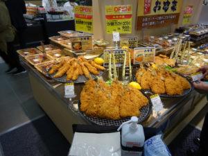 鮮魚売場の新鮮な魚を使って作ったフライ