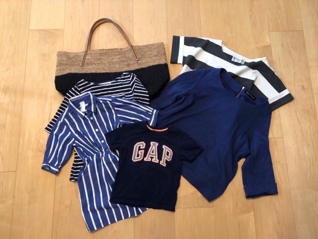 2nd STREETで購入した品。Beams、GAP、ナノ・ユニバースなどの服が500円~1000円くらいで購入できる