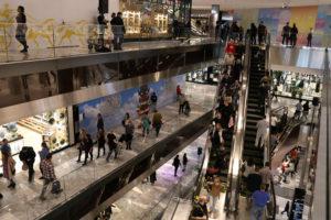ニューヨークのショッピングセンター