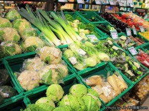 野菜売り場もオーガニック野菜が充実