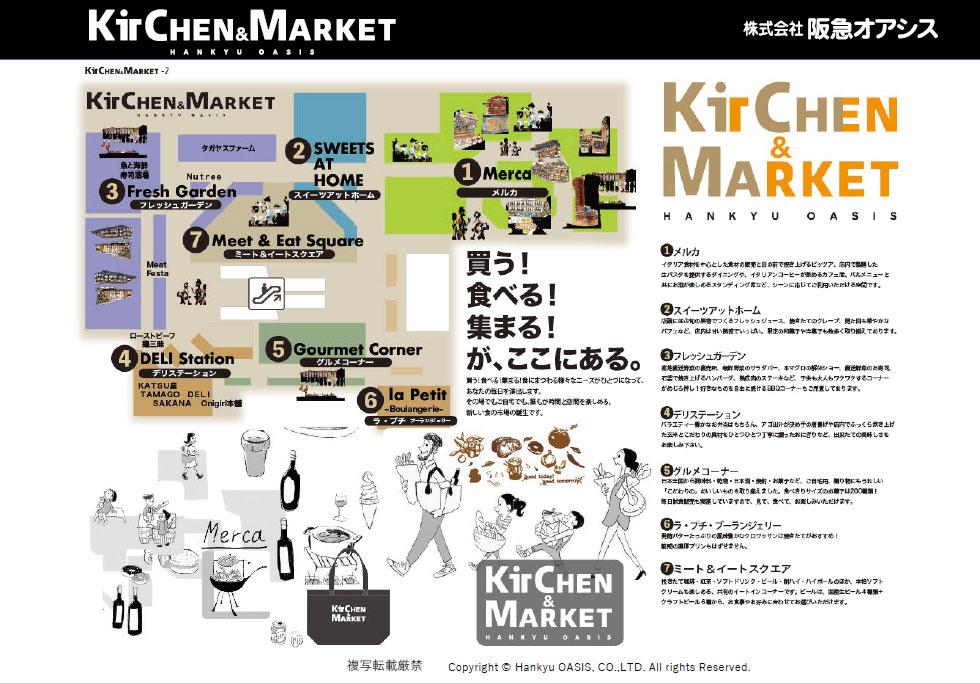 図表4●キッチン&マーケットの店内レイアウト
