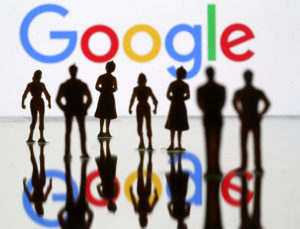 Googleと人々のシルエット