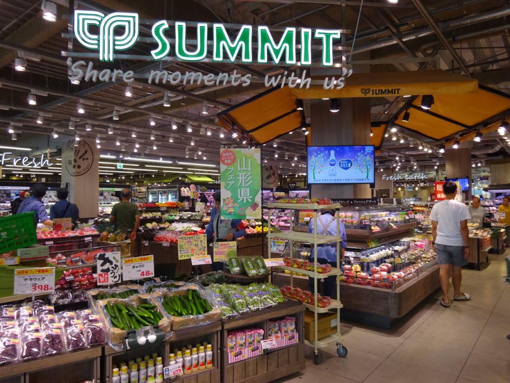 本天沼店で導入した新レイアウト。出入口そばにインストアベーカリーと総菜売場、生鮮3部門の売場を集中配置した。