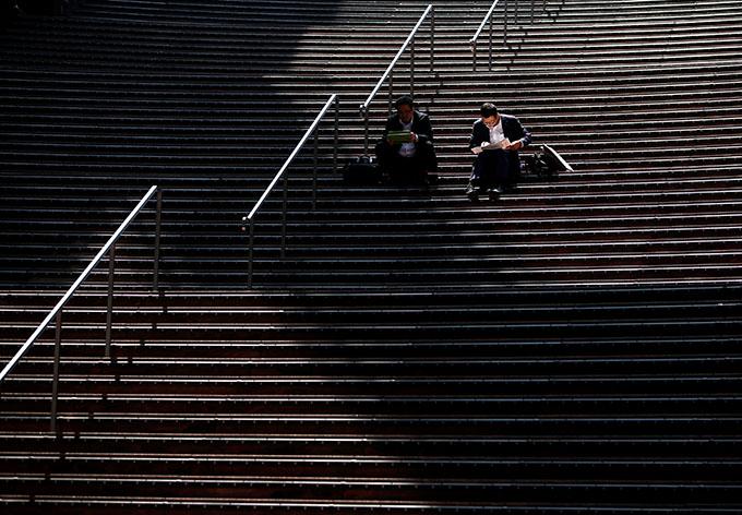 京都駅で撮影(2019年 ロイター/Issei Kato)