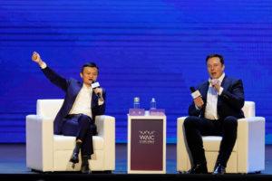 イーロン・マスク(CEO)とアリババ創業者の馬雲(ジャック・マー)氏が対談
