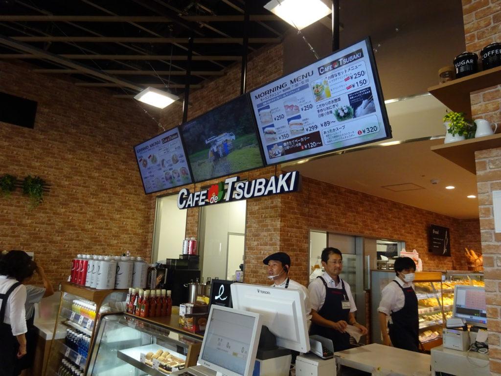 初導入のバイオーダー式カフェ「Café de TSUBAKI」
