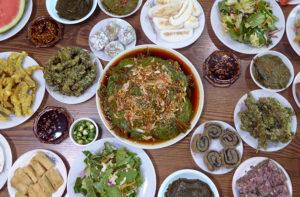 ▲韓国では食材としてさまざまな料理に使われている「えごまの葉」