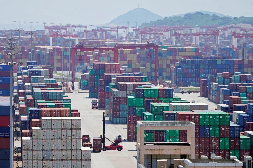 上海の港の様子