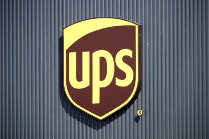 UPSのロゴ。パリ近郊で