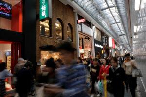 大阪市の商店街の様子