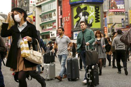 都内の観光客
