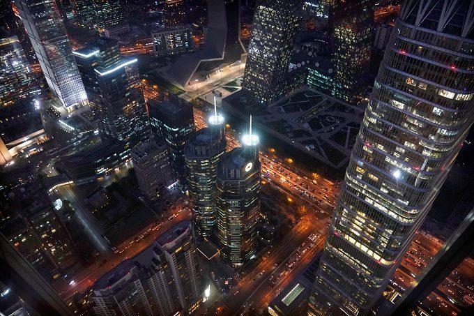 北京中心部のビジネス街