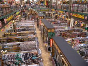 インスタ栄えする売場俯瞰。約20年前からのスタイル