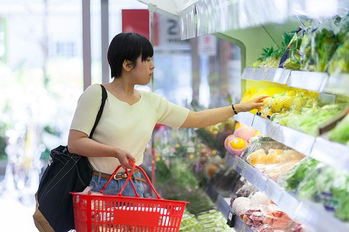 食品スーパー買い物