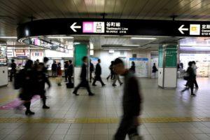 大阪の地下鉄の様子
