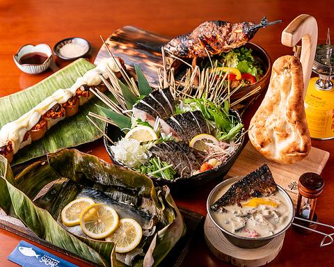 サバを、中華、イタリアン、インド料理など世界17カ国の料理にアレンジし、新しい楽しみ方を提案している