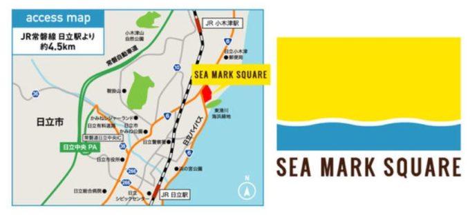SEA MARK SQUAREのロゴとMAP