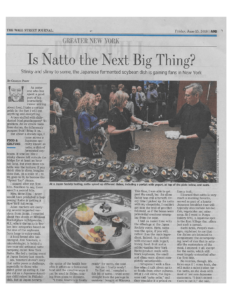 2018年1月、納豆がニューヨークで静かなブームになっていることをウォール・ストリートジャーナルが報じた際、その代表としてNYrtureを紹介している