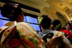 東京証券取引所の様子