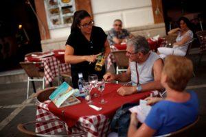 スペインのマラガ近郊のレストラン