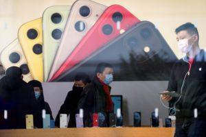 上海の携帯電話ショップ
