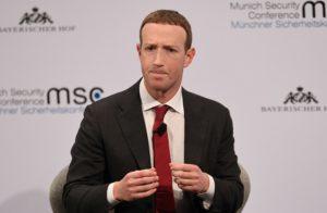 米フェイスブックのザッカーバーグ最高経営責任者
