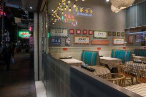 人気のない香港のレストラン