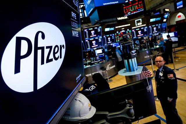 ファイザーのロゴ ューヨーク証券取引所