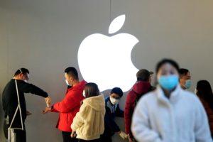 アップルのロゴ 上海にて