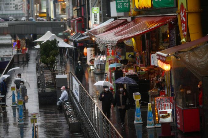 大阪の道頓堀の様子