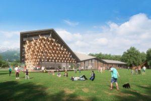 長野・白馬村に完成するスノーピークの体験型複合施設 完成イメージ