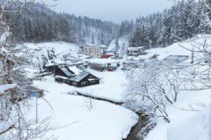 ドラマ『おしん』の舞台となった山形県の銀山温泉(Photo by onsuda)