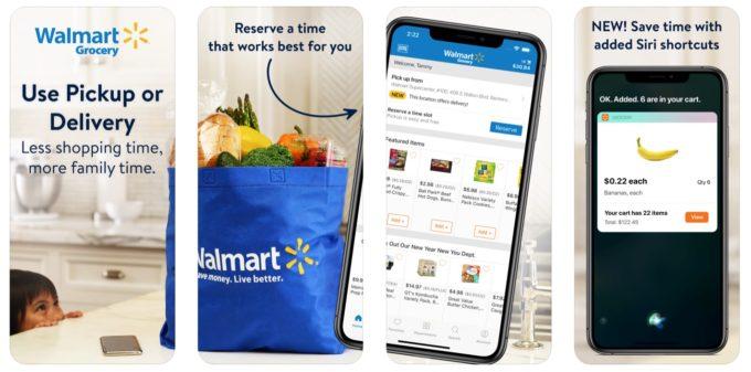 ウォルマートのショッピングアプリの画面