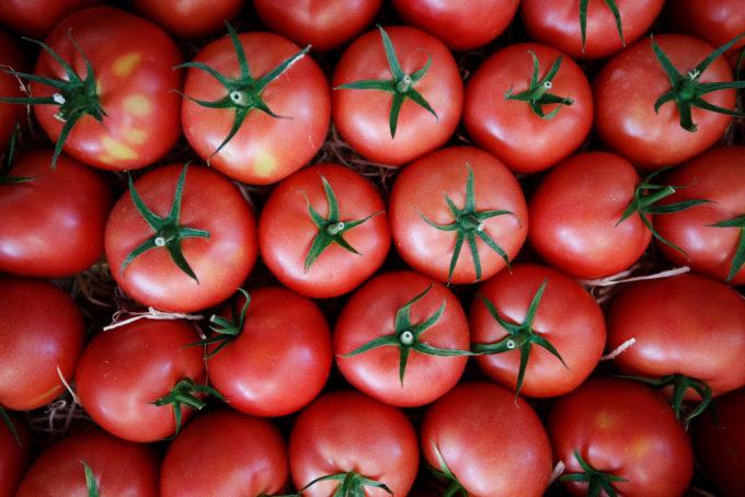 フランスのマルシェに並ぶトマト