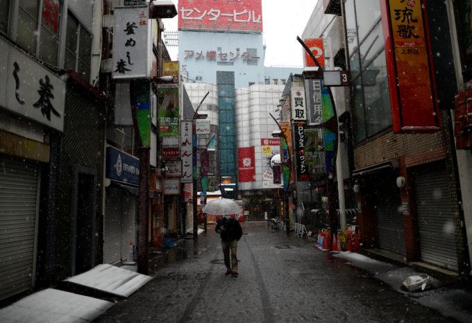 3月の小池都知事がカ移出自粛を呼びかけた最初の週末の東京アメ横
