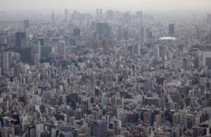 上空から見た都内