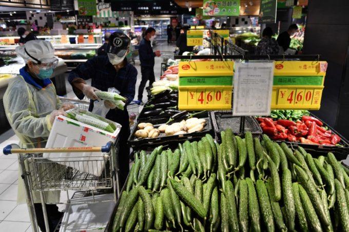 中国のスーパーマーケット