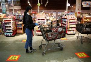 ワシントンのスーパーの様子