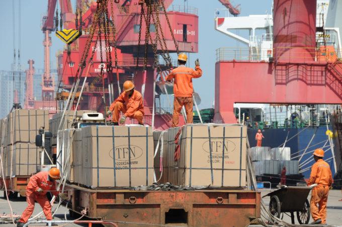 中国の港湾の様子
