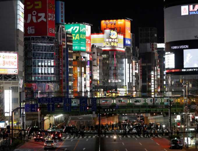 東京・新宿 夜の街