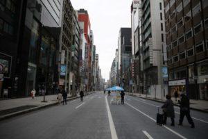 人が少ない東京・銀座
