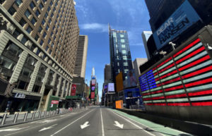 米ニューヨークの街並み