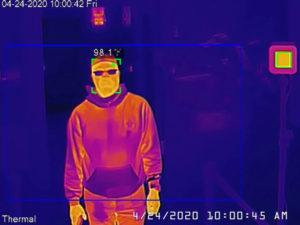 中国の浙江大華技術の検温カメラの画面