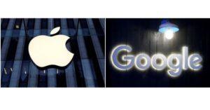 アップルとグーグルのロゴ