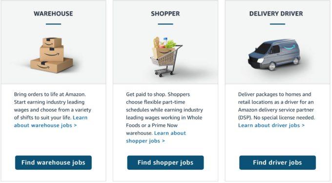 米アマゾンの採用サイト
